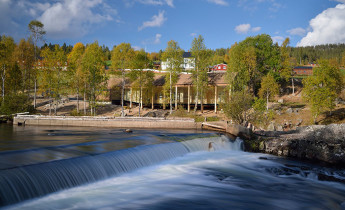 Atnbrufossen water-powered sawmill museum and Fosse House