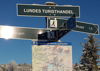 The letter hunt in the ski trails on Venabygdsfjellet